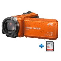 JVC - Pack GZ-R415 Orange + Carte SD 16GO