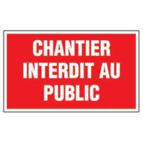 Générique - Panneau De Chantier - Chantier Interdit Au Public - Générique - Panneau De Chantier - Chantier Interdit Au Public