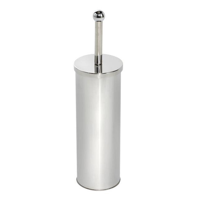 CARREFOUR HOME - Brosse WC + porte balai - métal effet chromé ...