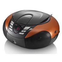 Lenco - Radio Fm Stéréo avec Lecteur Cd/MP3 et Port Usb - Orange - Scd-37