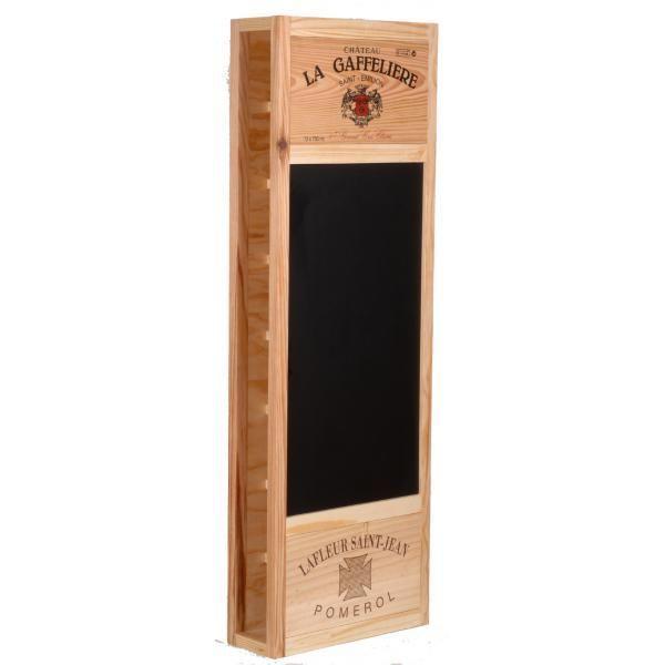 CavidÉCO Pierre Goujon Meuble de rangement en bois 8 bouteilles avec ardoise latérale - Bois - CavidÉCO Pierre Goujon - Aci-cvc103N