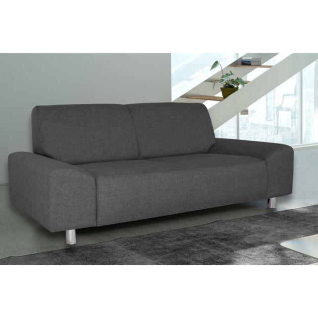 Rocambolesk Canapé Quick 3 savana 05 anthracite+pieds chrom sofa divan