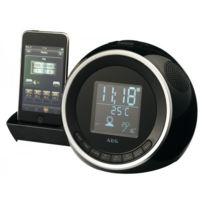 Aeg - Dock radio réveil stéréo Iphone/Ipod noir Src 4438