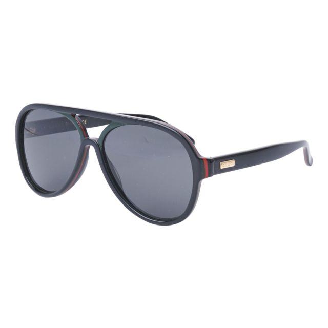 Gucci - Lunettes de soleil Gg-0270-S 002 Femme Noir - pas cher Achat   Vente  Lunettes Tendance - RueDuCommerce e4df5891e998