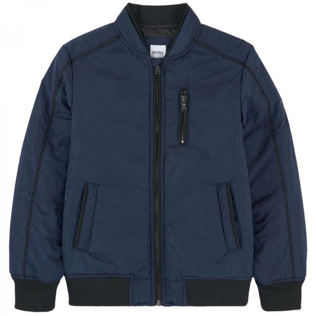 hugo boss blouson bomber junior ref j26317 849j pas cher achat vente manteau enfant. Black Bedroom Furniture Sets. Home Design Ideas