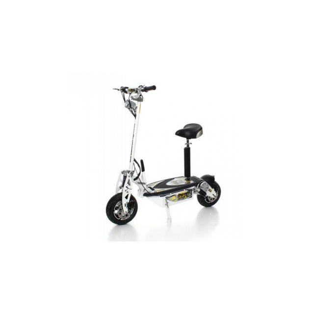 sxt scooter trottinette lectrique 1000 xxl 1600w brushless blanche batterie plomb 48v 12ah. Black Bedroom Furniture Sets. Home Design Ideas