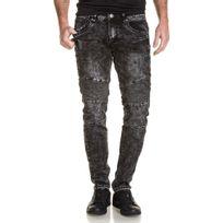 BLZ Jeans - Jean noir délavé nervuré slim