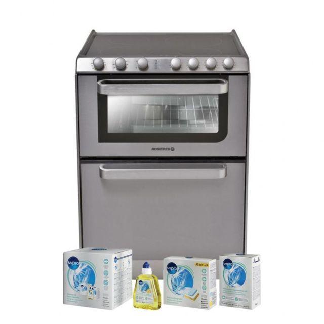 Rosières Rosieres Lave-vaisselle posable inox 6 Couverts combiné Four Table de cuisson Classe A