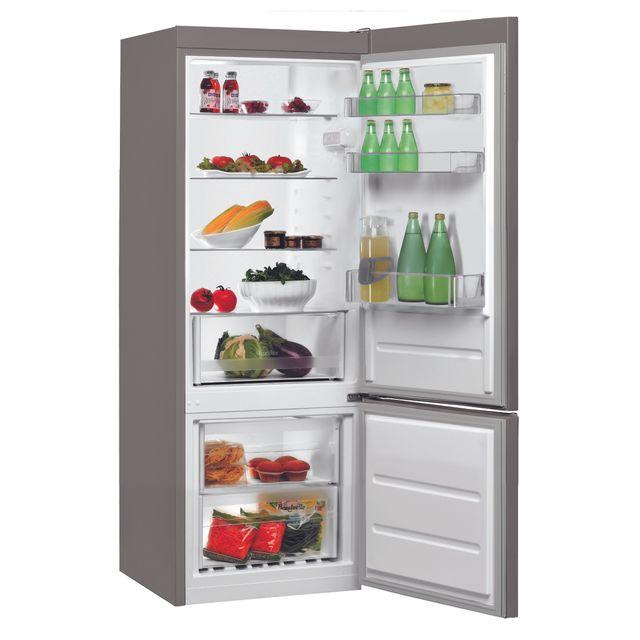 Whirlpool Réfrigérateur congélateur combiné BLF5001OX Ce réfrigérateur combine au design épuré, avec une porteFine et moderne, pour une intégration parfaite dans votre cuisine.
