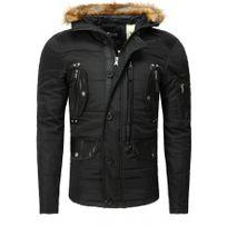 Beststyle - Blouson homme chaud hiver noir