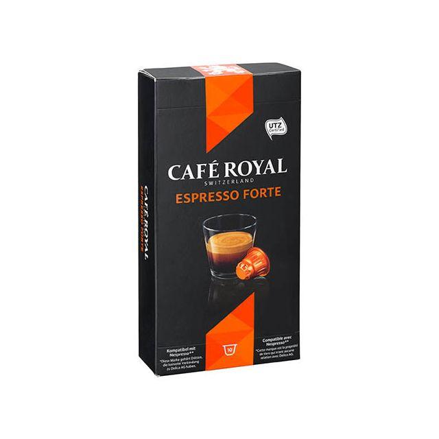 CafÉ Royal Capsules de café Espresso Forte - Boîte de 10