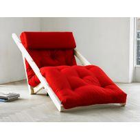 Karup - Fauteuil chaise longue en bois avec matelas futon Figo 70