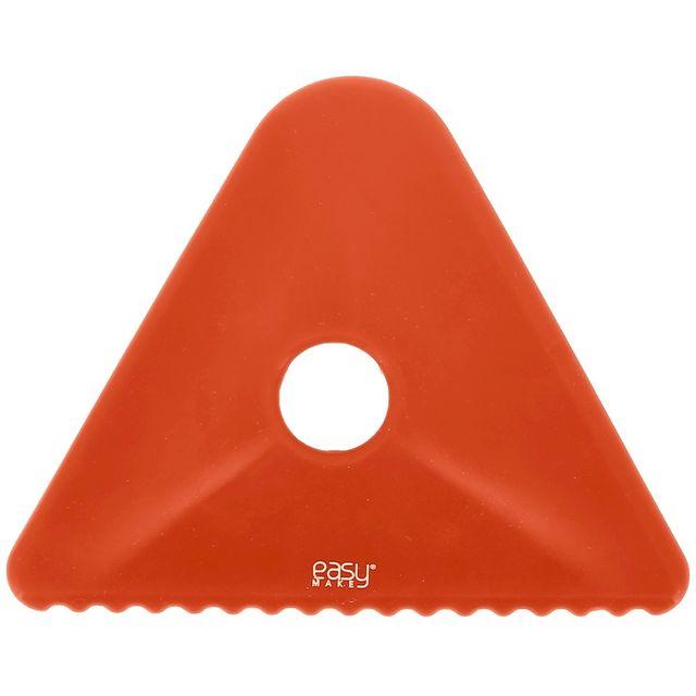 Promobo Corne de Patissier en Silicone Racloir Plat Nappage Patisserie Rouge