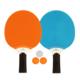 Get Go - Ensemble tennis de table & bleu/orange/gris clair