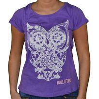 Hollifield - T Shirt Manches Courtes - Femme - Fs109 - Violet