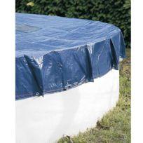 Provence Outillage - Bâche pour piscine ronde 140g/m² Bâche Ø 6,20 m pour piscine Ø 5,40m