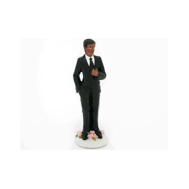 Figurine marié noir seul 11 cm