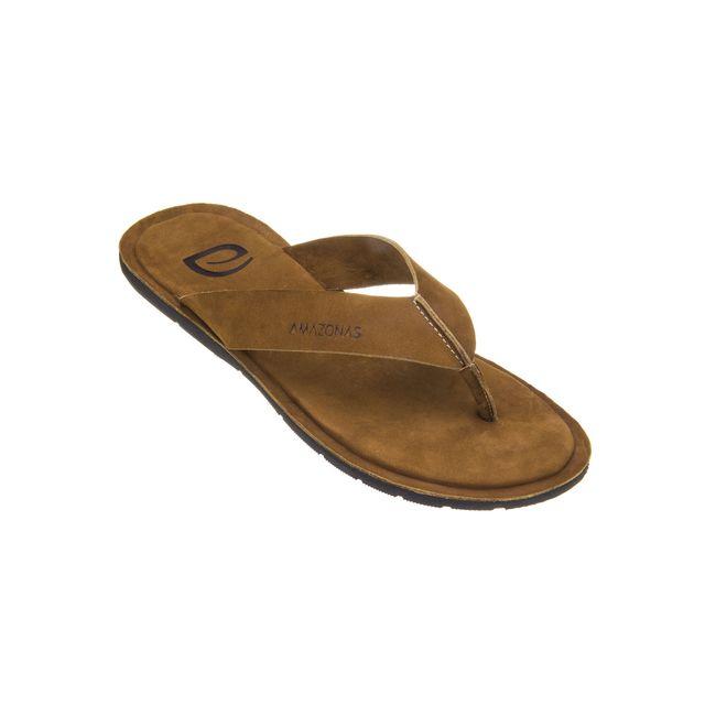 d0d5a829790 Amazonas - Tongs Homme Prime Leather Marron - pas cher Achat   Vente  Sandales et tongs homme - RueDuCommerce