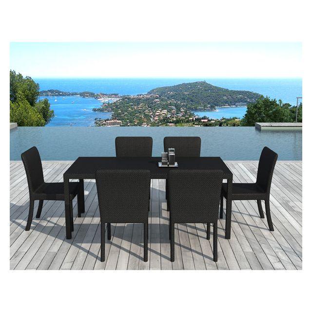 delorm design - table et chaises de jardin uxmal en rsine tresse