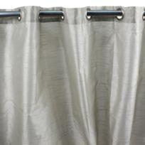 MonbeauRideau - Rideau Art Silk à oeillets 140x250cm, Écru