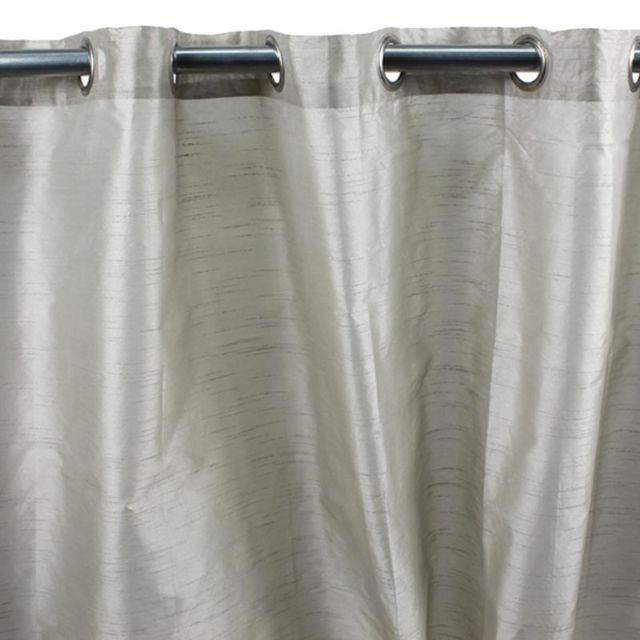 Mon beau tapis rideau art silk à oeillets 140x250cm Écru