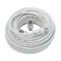 Générique - Câble coaxial Tv 10 Mètres + adaptateur