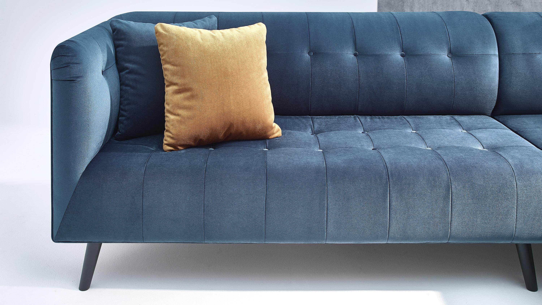 bobochic paris canap d 39 angle panoramique bleu canard achat vente canap s pas chers. Black Bedroom Furniture Sets. Home Design Ideas