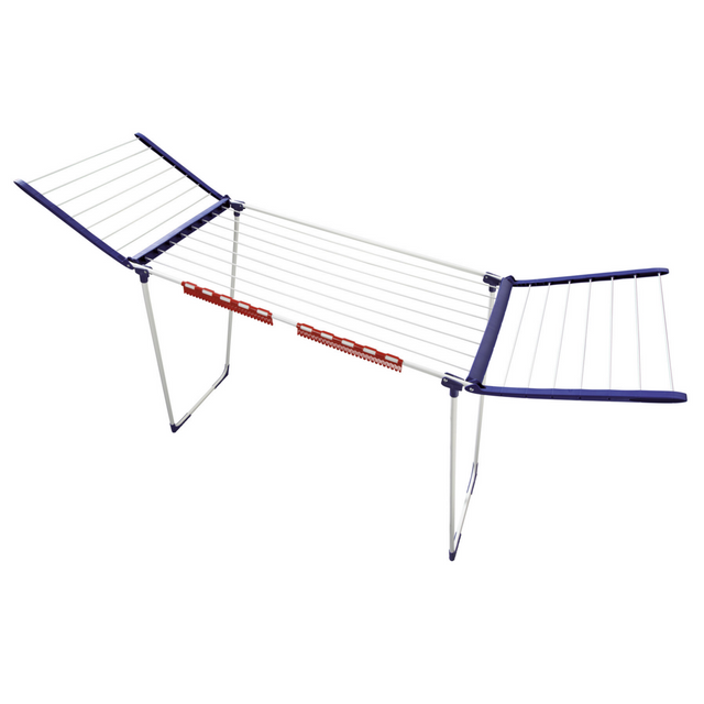 leifheit etendoir sur pied ailes obliques 18m 81650. Black Bedroom Furniture Sets. Home Design Ideas