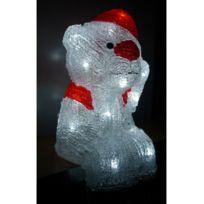 Jja - Le Depot Bailleul - Ours lumineux assis 24 Led blanc froid intérieur 1fa531a223d