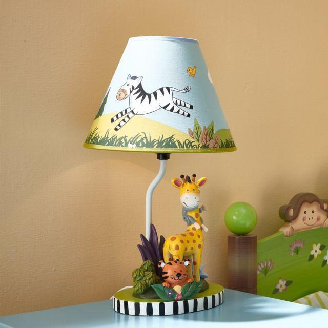 Fantasy Fields Lampe A Poser Sunny Safari Pour Table De Chevet