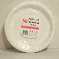 Tersol - Assiettes demi creuses X 50 plastique 20,5 cm blc