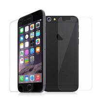 Cabling - deux Film vitre de protection écran premium avant + arriere, iPhone 6 4,7 pouces, en verre trempé haute transparence et ultra résistant incassable, inrayable 9H, et Ultra Slim 0,26mm pour une protection optimal de votre Iphone 6/6S blanc