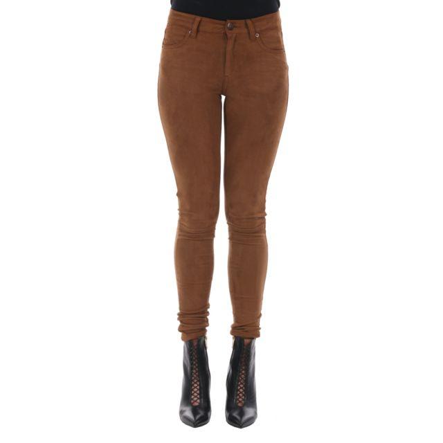Fiveunits Femme 2051742602307 Marron Polyester Pantalon