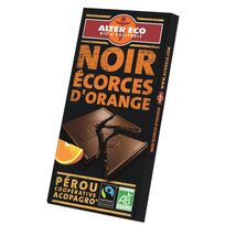 Alter Eco - Chocolat Noir Ecorces d'Orange Bio 100g