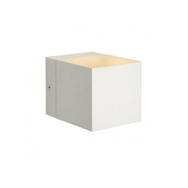 lucide applique murale carr e devi blanc pas cher achat vente appliques rueducommerce. Black Bedroom Furniture Sets. Home Design Ideas