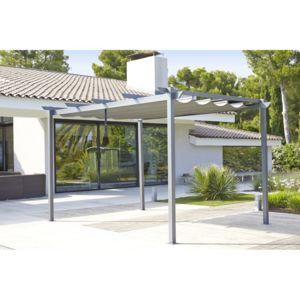 carrefour tonnelle lorca avec toile r tractable 3x4 m aluminium et acier pas cher achat. Black Bedroom Furniture Sets. Home Design Ideas