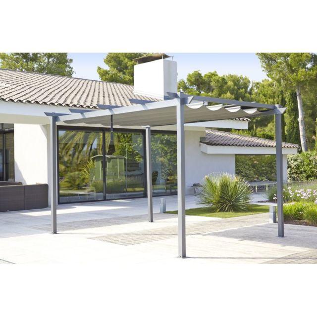 CARREFOUR - Tonnelle Lorca avec toile rétractable - 3x4 m ...