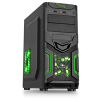SPIRIT OF GAMER - Boitier PC ATX X-FIGHTERS 31 Green Army