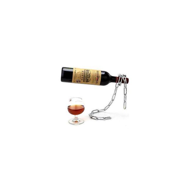 Alpexe Porte bouteille de presentation a vin en forme de chaine a maillons