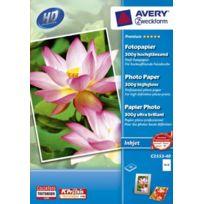 Avery-zweckform - Avery - Avery Dennison Premium / C2553-40 Papier photo pour impression jet d'encre 10 x 15 / 300g Brillant 40 feuilles Import Allemagne