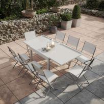 Table de jardin aluminium et verre avec rallonge - catalogue 2019 ...