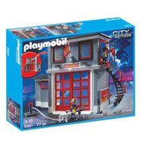 Caserne pompier playmobil jouet club achat caserne pompier playmobil jouet club pas cher rue - Caserne de police playmobil ...