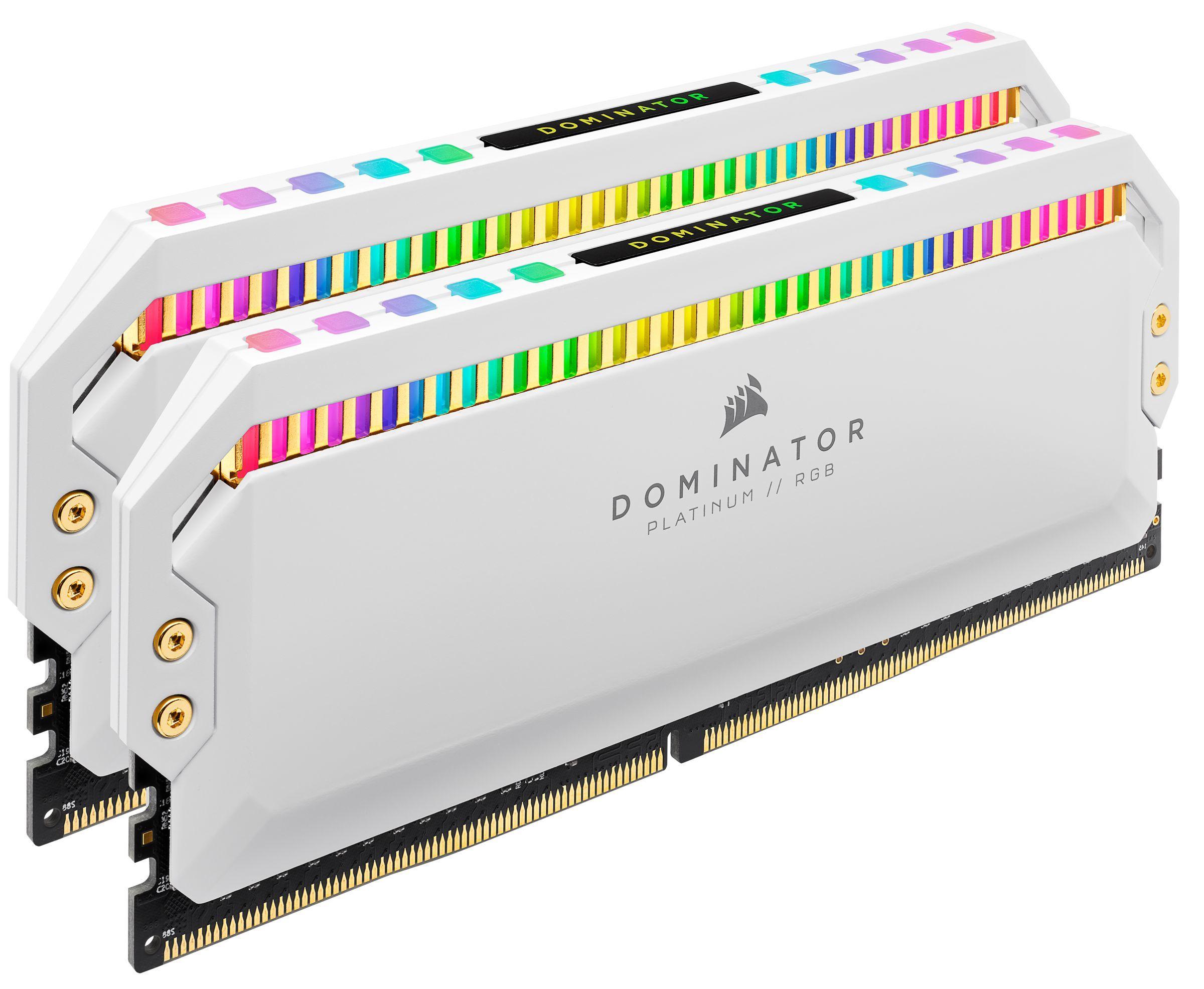 Dominator Platinum - 2 x 8 Go - DDR4 4000 MHz - RGB - Blanc