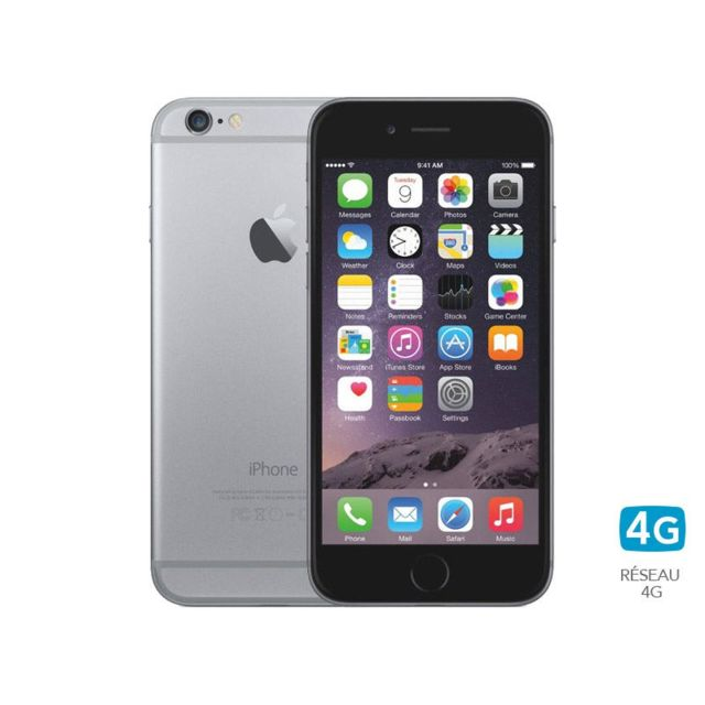 APPLE - iPhone 6 – 64 Go – Gris Sidéral – Reconditionné