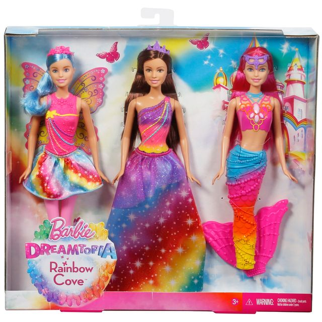 NEW Mattel Barbie Dreamtopia Rainbow Cove Mermaid Princess Doll Purple Hair