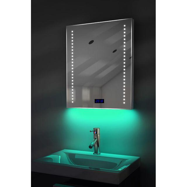 diamond x collection miroir salle de bain horloge num. Black Bedroom Furniture Sets. Home Design Ideas