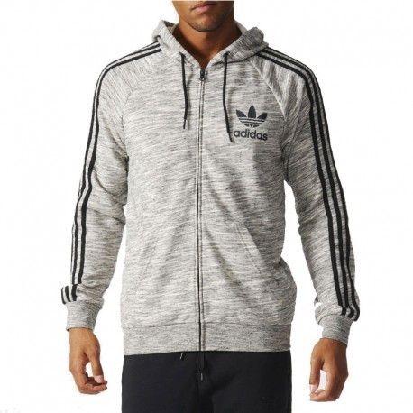 22a4eee88f77 Adidas originals - Sweat à Capuche Clfn Gris clair Homme Adidas - pas cher  Achat   Vente Sweat homme - RueDuCommerce