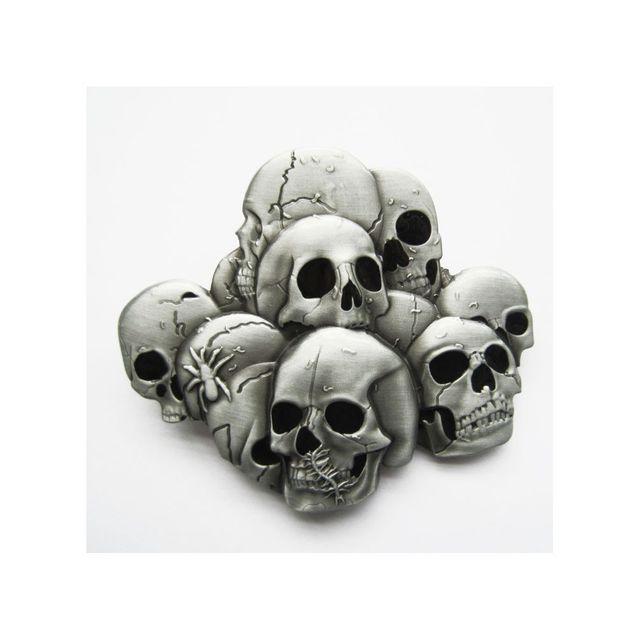 Universel - Boucle de ceinture nombreux cranes tete de mort gothique - pas  cher Achat   Vente Objets déco - RueDuCommerce 9acc0dd9a46