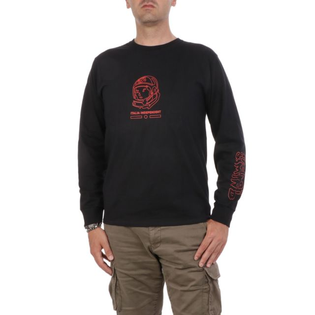 Italia Independent Homme Wmmb021009 Noir Coton T-shirt