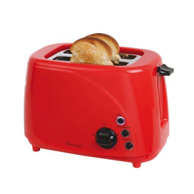 domoclip grille pain rouge noir dod150rn pas cher achat vente grille pain rueducommerce. Black Bedroom Furniture Sets. Home Design Ideas